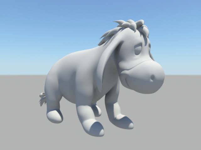 Funny Donkey Cartoon 3d model