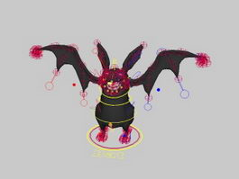Black Bat Rig 3d preview