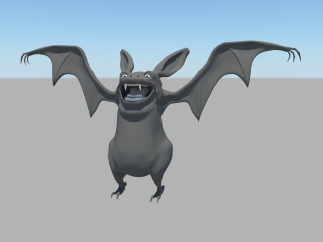 Black Bat Rig 3d model