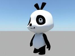 Cute Panda Bear 3d model