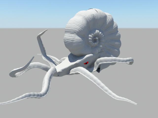 Animated Octopus Monster 3d model