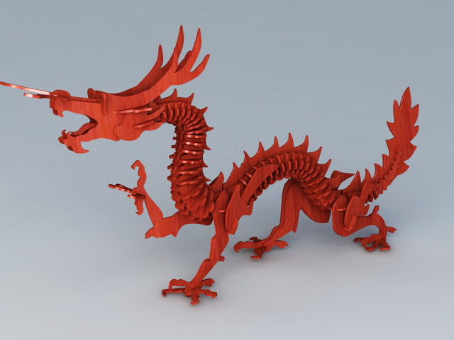 Chinese Wood Dragon 3d model