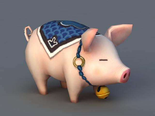 Pig Pet 3d rendering