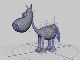 Cartoon Donkey Rig 3d model