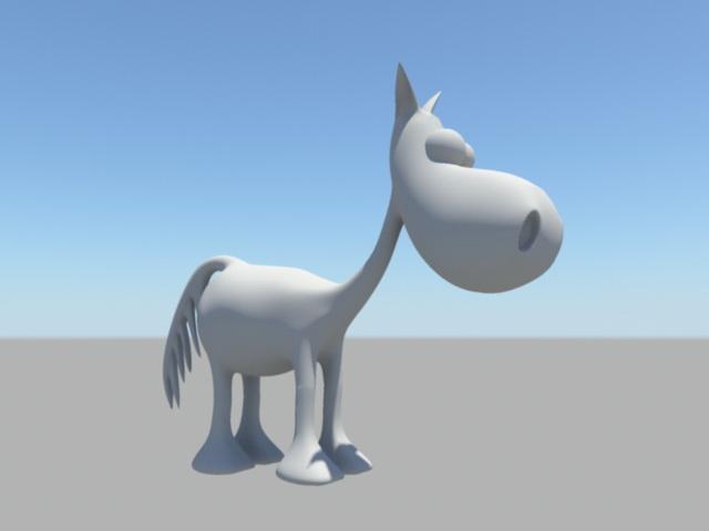 Cartoon Donkey Rig 3d model