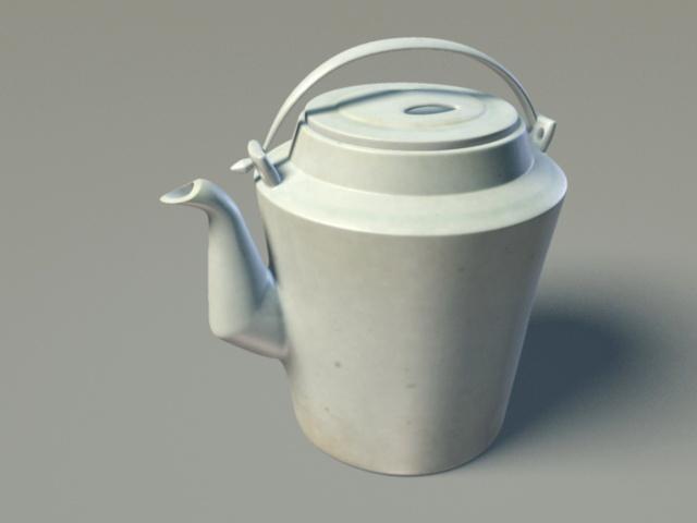 Vintage Teapot 3d model