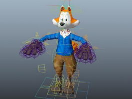 Anthropomorphic Fox Rig 3d model