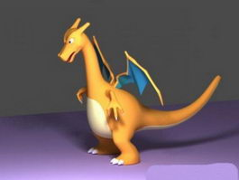 Cute Yellow Dragon 3d model