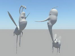 Cartoon Mosquito 3d model