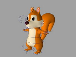 Cartoon Squirrel Rig 3d model