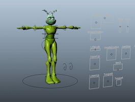 Anthropomorphic Ant Rig 3d model