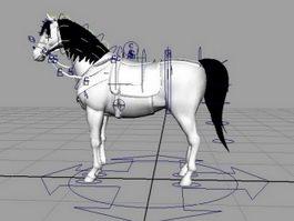White Horse Rig 3d model