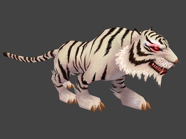 Animated White Tiger 3d model