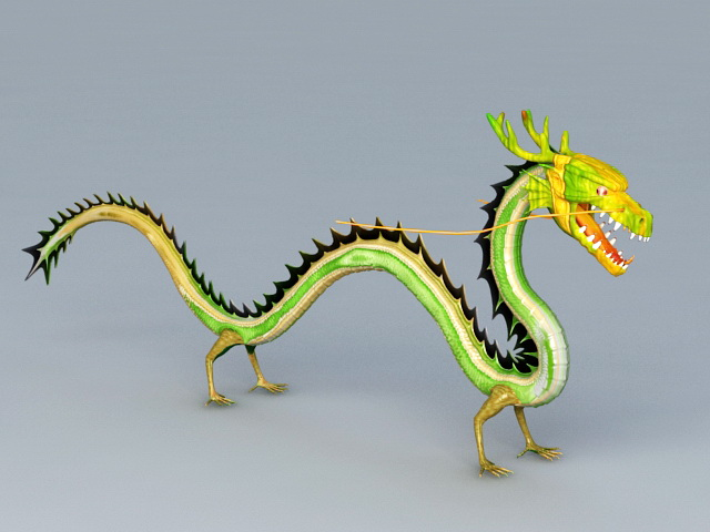 Chinese Green Dragon 3d model