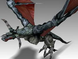 Animated Dragon 3d model