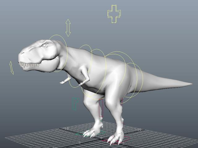 T-Rex Rig Setup 3d model