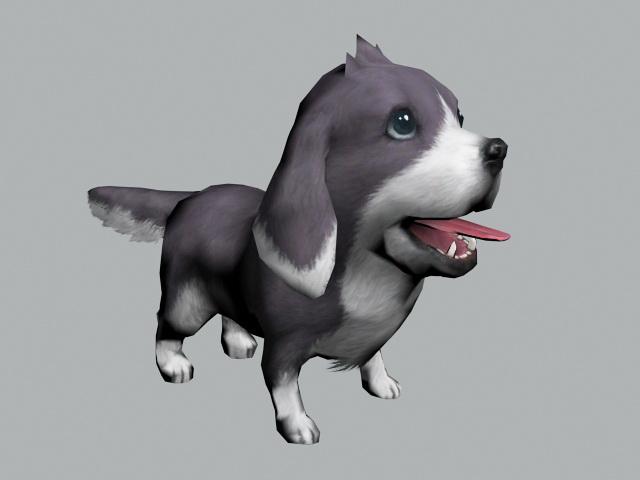 Cute Happy Puppy 3d model