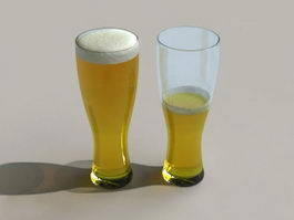Two Glasses of Beer 3d model