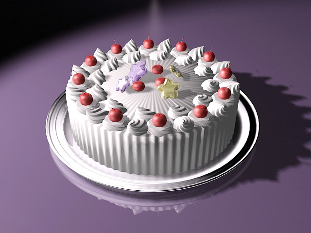 Birthday Cake 3d Model 3ds Max Files Free Download Modeling 44371