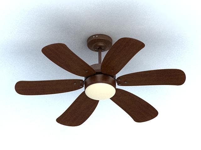 Ceiling Fan with Light 3d model