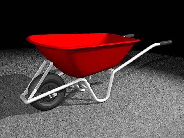 Red Wheelbarrow 3d model