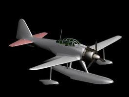 Nakajima A6M2-N 3d model