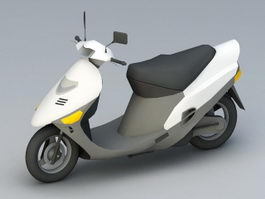 White Moped 3d model