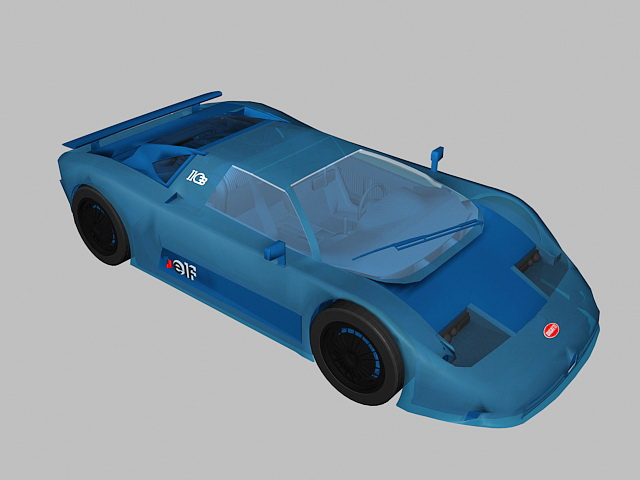 Bugatti Sports Car 3d model