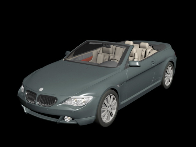BMW 645Ci Convertible 3d model