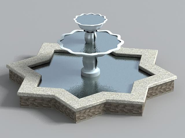Gardens Star Fountain 3d model
