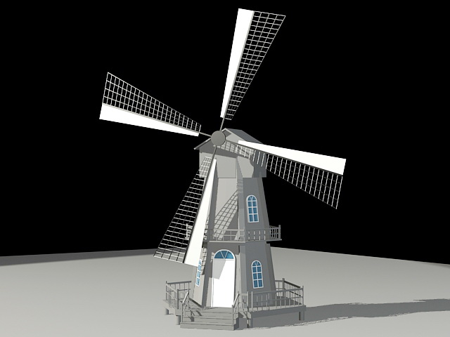 Tower Mill 3d model