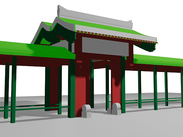 Ancient Chinese Gate 3d model
