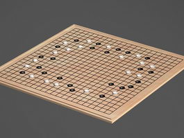 Japanese Go Game 3d model