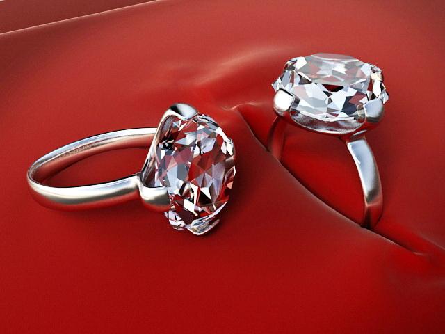 Diamond Rings 3d model