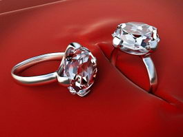 Diamond Rings 3d model