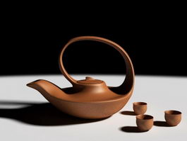 Clay Tea Set 3d model