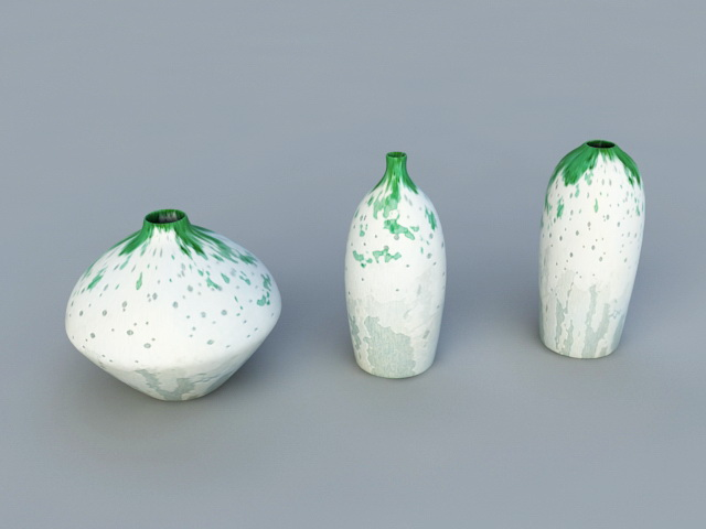 Ornamental Vases 3d model