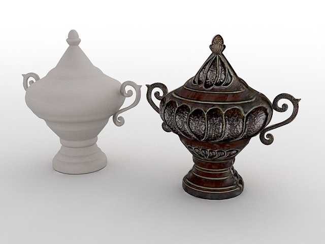 Antique Chinese Vases 3d model
