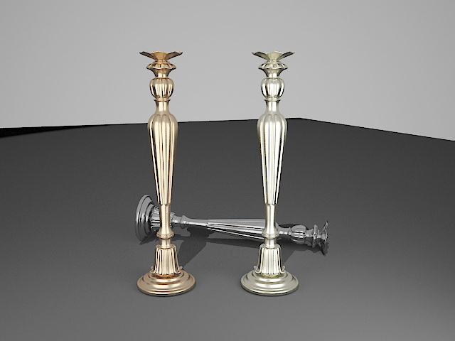 Antique Candle Holders 3d model