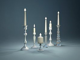 Candle Holder Collection 3d model