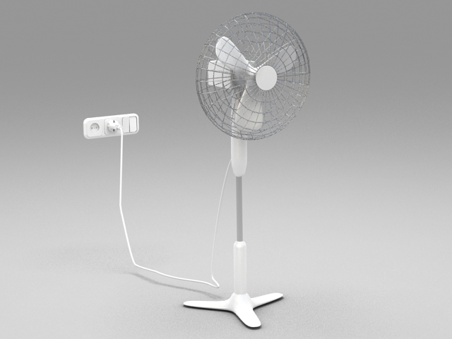 Electric Floor Fan 3d model