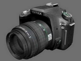 Pentax K100D DSLR Camera 3d model
