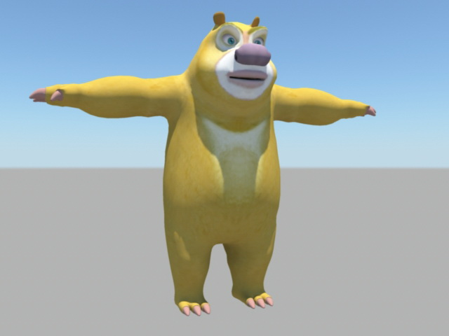 Anthropomorphic Bear Rig 3d model