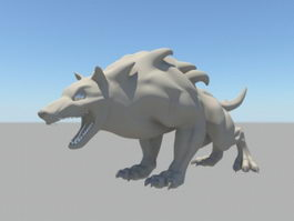 Wolf Like Beast 3d model