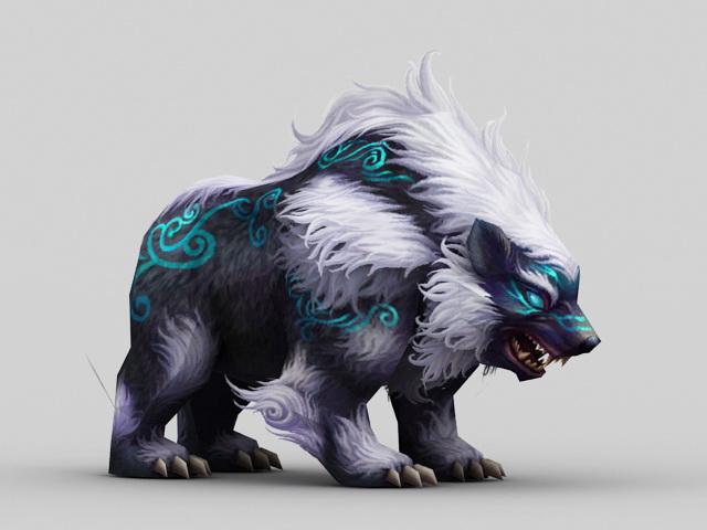 Druid Bear 3d model