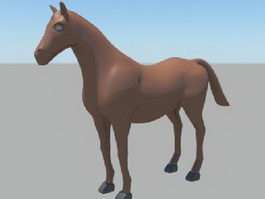 Brown Horse 3d model