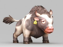 Dairy Cow Cartoon 3d model