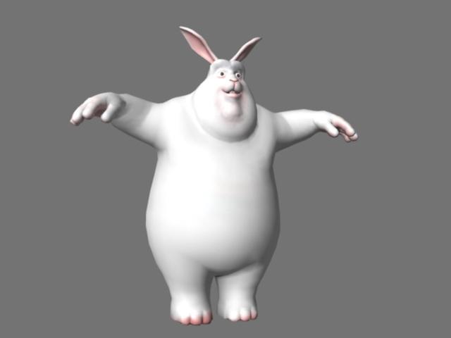 Big Buck Bunny Rig 3d model