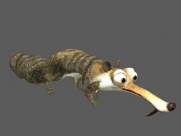 Ice Age Squirrel Animation 3d model