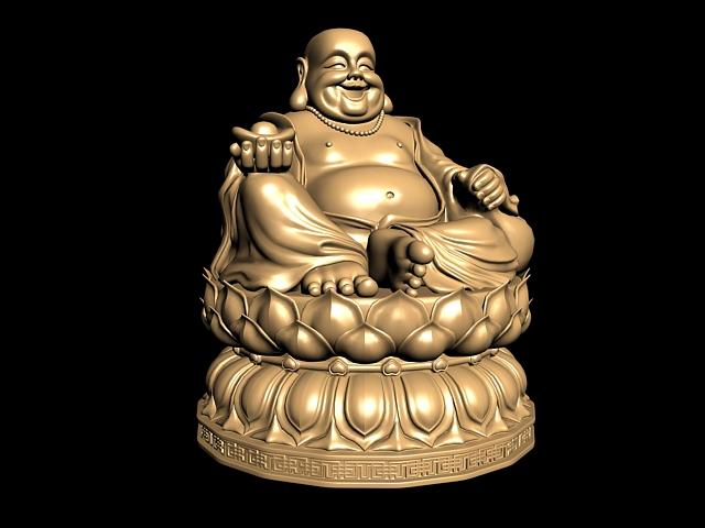 Fat Buddha Statue 3d model
